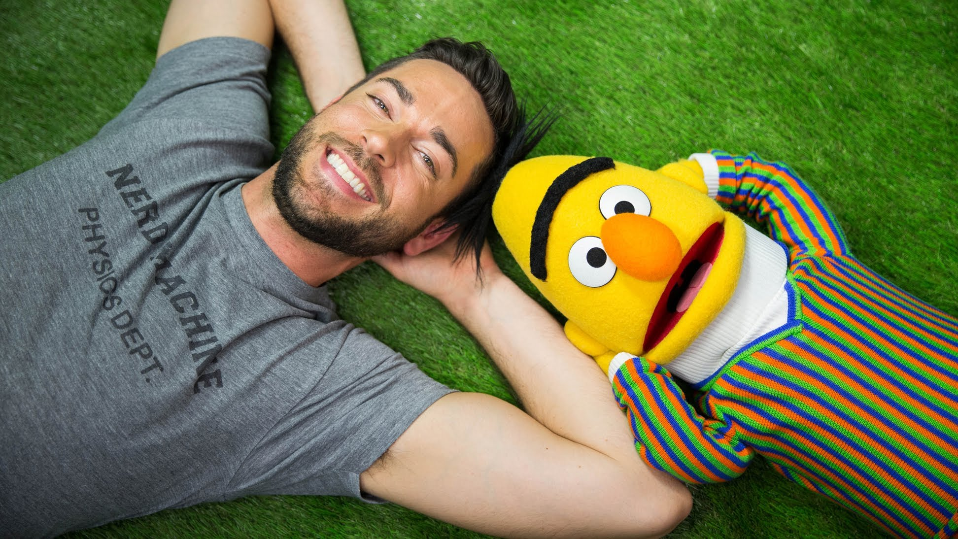 A Lovely Sunny Day | Zachary Levi & Bert From Sesame St